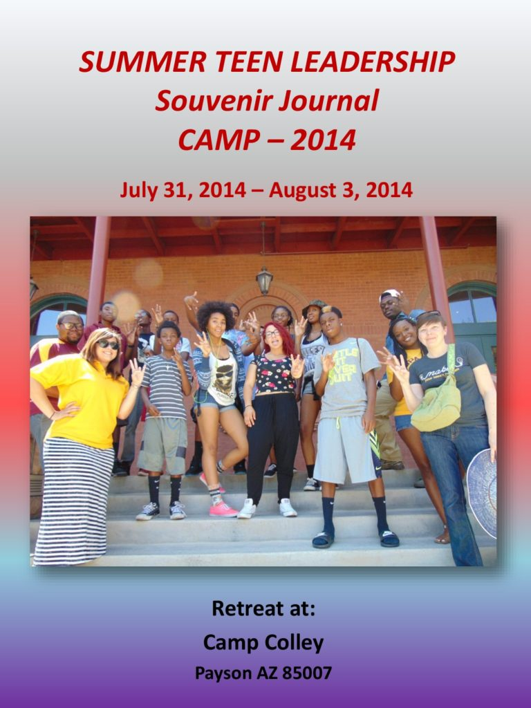 UPI Education SUMMER TEEN LEADERSHIP CAMP JOURNAL-2014